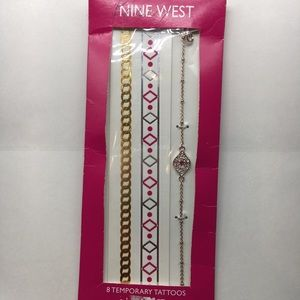 Nine West Temporary Tattoo Anklet Pink Gold